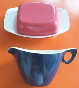 Vintage 1950-60s Retro Kingston Plastic Butter Dish Melaware Kitsch Milk Jug Lot