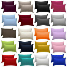 2 X Pillow Case Poly Cotton Housewife Pillow Cover Case Pair ALL SIZES AVAILABLE