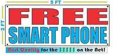 FREE SMART PHONE Banner Sign NEW