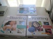 THREE NEW in box Klutz Crochet, Beading and Knitting Kits