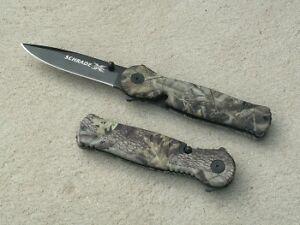Schrade Linerlock Taschenmesser Camo Klappmesser Einhandmesser