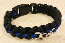 Thin Blue Line, Paracord Police Bracelet, Handcuffs, TBL, Law Enforcement