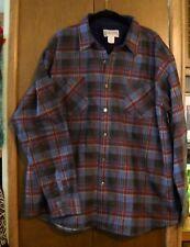 NEW Haband light  Flannel LS shirt/XL