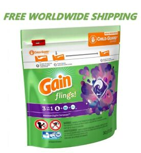 Gain Flings Moonlight Breeze Laundry Detergent Pods 14 CT WORLD WIDE SHIPPING