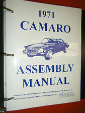 1971 CHEVROLET CAMARO ASSEMBLY MANUAL BY MILLENIUM INDUSTRIES INSTRUCTIONS