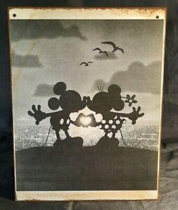 MICKEY & MINNIE MOUSE SUNSET wood Handmade Disney World vintage sign
