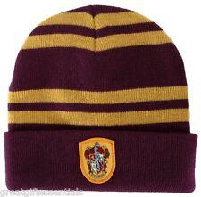 HARRY POTTER Gryffindor House Beanie Cap HAT w/ CREST Patch LICENSED Hogwarts