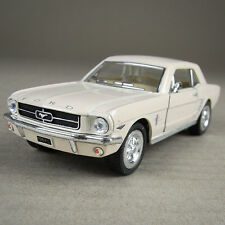 Cream Ford Mustang 1964 1/2 Die-Cast Detailed Model Car 1:36 Scale Pull-Back