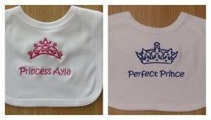 Persaonalised Baby Bibs, Toddler Bibs, Baby Shower, Weddings, Gift, ANY WORDING