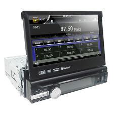 "Single 1 Din 7"" GPS Flip Car Stereo DVD CD VCD Radio Player Touch Screen USB SD"
