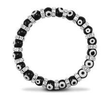 Pulseras de joyería con gemas negras