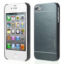 Apple iPhone 4 4S Motomo Metal Hard Handy Tasche Alu Schale Gebürstet Bag Blau