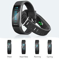 AGPTEK Fitness Tracker Activity Smart Watch Waterproof Heart Rate Monitor Black