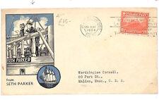 A239 1934 HAITI MARITIME Cover Super SETH PARKER Maritime Illustration