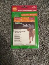SENTRY HC WORM X PLUS 7 Way De-Wormer Tablets for Medium and Large Dog exp 06/21