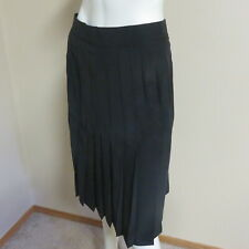 NWOT Bianca Skirt Pleated Women's Ladies Made In Canada 100% Silk Black Size 8