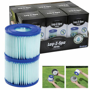 BESTWAY Lay-Z- Spa Xtrs POOL ANTIMICROBIAL FILTER CARTRIDGE TWIN PACK SIZE VI