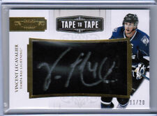 11/12 DOMINION VINCENT LECAVALIER TAPE TO TAPE AUTO 11/20 TAMPA BAY LIGHTNING