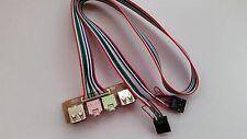 Ordinateur pc case panneau avant usb audio jack ports micro écouteur de remplacement câble