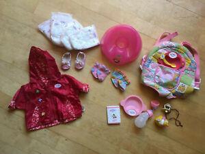 Original Baby Born Zubehör (Windeln, Tragesitz, Kleidung, Quietscheente, ...)