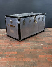 Antique Large Art Deco Aluminium Coffee Table Trunk