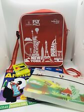 Lonely Planet Emirates Fly With Me Kids Red Bag 3 Activity Books Crayons Keyring