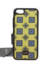 Nuevo Dolce & Gabbana Funda de Teléfono Cuero Amarillo Azul Estampado iPhone5/5s