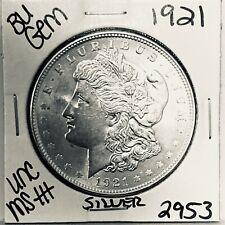 1921 BU GEM MORGAN SILVER DOLLAR UNC MS++ GENUINE U.S. MINT RARE COIN 2953