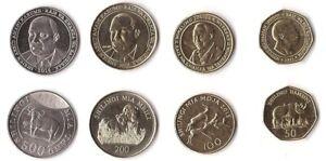 Tanzania - set 4 coins 50 100 200 500 Shilingi 2014 - 2015 UNC Lemberg-Zp