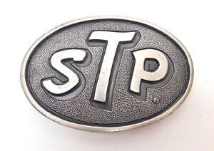 Vintage STP Automotive BELT BUCKLE Metal Heavy Racing Oil