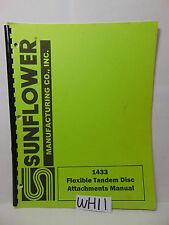 SUNFLOWER FARM BOOK ATTACHMENTS-PART MANUAL FLEXIBLE TANDEM DISC 1433