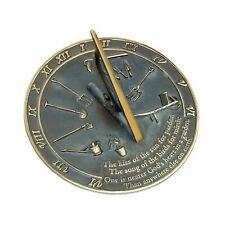 "Rome Rm2307 Brass Sundial ""Kiss of the Sun"""