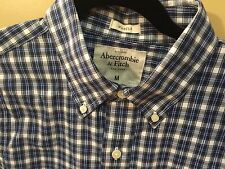 Abercrombie A&F mens Blue & White Stripe M NWT muscle-fit button-down was $68.00