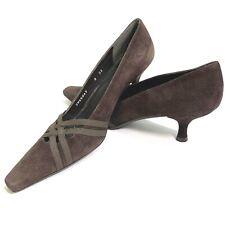 STUART WEITZMAN Brown Pointed Toe Kitten Heel Women Pumps Shoes 8 Designer Pumps