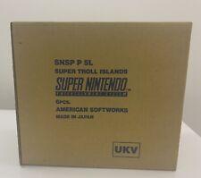 Snes Super Troll Islands Factory Sealed Rare Ukv Version!!