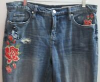 blank nyc women amazing embroidery distressed jeans size 29 FREE SHIPPING !!!!