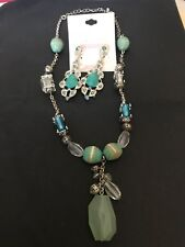 Fashion Muse Jade Necklace and Earrings Set