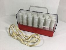 Clairol Style Setter 20 Hot Rollers Hair Curlers C 20 S Z Red Base No Clips GC