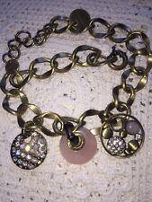 Dyrberg Kern Designer Necklace Crystals Pink Quartz  Signed Superb