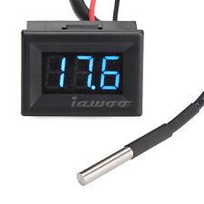 DS18b20 Waterproof Temperature Probe -55-125°c Digital Temp Thermometer Blue LED
