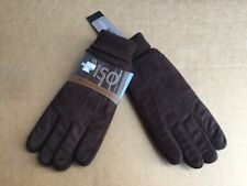 NWT Men's Isotoner 3M Thinsulate Platinum Brushed Microfiber Gloves Dark Brown