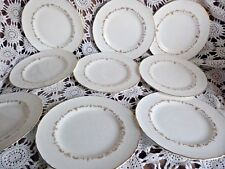 Or Vintage Chantilly Royal Worcester Salade/Dessert Assiettes x 9 mariage A1 très bon état