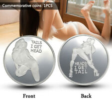 Silver Sexy Woman Luck Commemorative Collection Coin Arts Gifts Souvenir Alloy