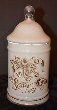 Antique Glass Apothecary Jar Vanity Jar Beautician Barber Shop Jar