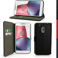 PU Cuero Funda Cartera para Motorola Moto G4 Play XT1601 Carcasa Piel Case Cover