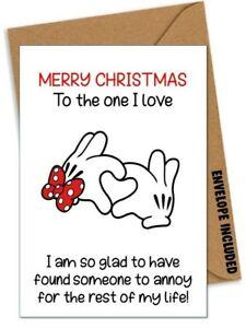 Funny CHRISTMAS Card Boyfriend Husband Girlfriend Wife Partner Rude Banter /BG