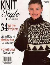 Knit n Style February 2010 Norwegian Sweater Aran Vest Winter Knitting Patterns
