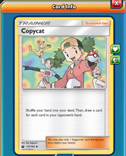 Pokemon TCG ONLINE x4 Copycat (DIGITAL CARD) Trainer Supporter