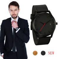 Sports Wrist Watch Military Army Date Leather Quartz Analog Men's Fashion New