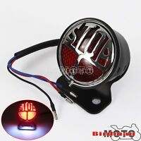 Rear Stop LED Brake Taillight License Plate Lamp Custom Fit Harley Cafe Racer